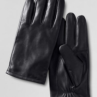 Men's Leather Glove with EZ Touch from Lands' End