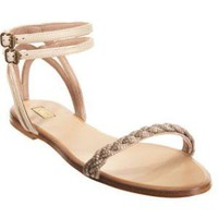 Chloe Metallic Braided Sandal at Barneys New York