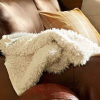 Perry Faux Fur Throw | Pottery Barn
