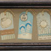 Framed Beach Gift Tags Wall Art | OceanStyles.com