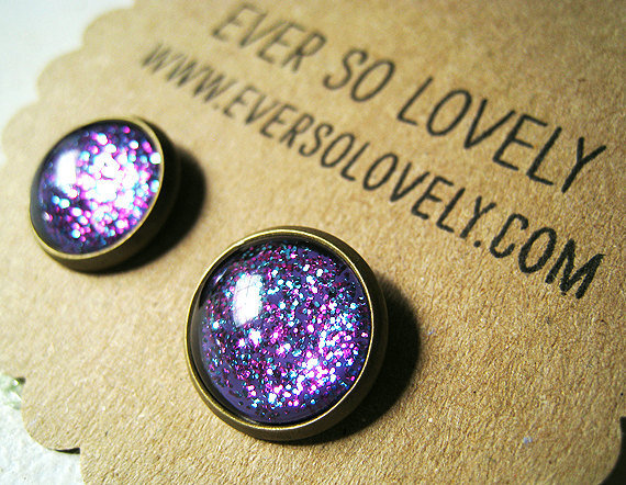 periwinkle starry sky earrings by EverSoLovely