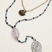 Double Layer Rosary at Free People Clothing Boutique