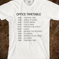 Office Timetable-Unisex White T-Shirt