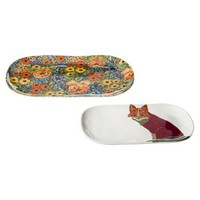 Threshold™ Melamine Floral & Fox Appetizer Tray Set of 2