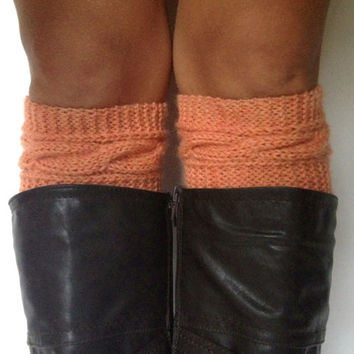Peachy Boot Cuffs Cable Knit Boot Liners Toppers