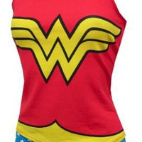 Amazon.com: Wonder Woman Cami & Panty Set for women: Clothing