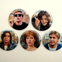 The Breakfast Club set - button badge or magnet 1.5 Inch
