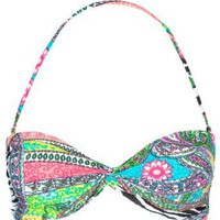 Amazon.com: FULL TILT Mixed Media Bikini Top: Clothing