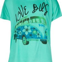 Amazon.com: FULL TILT Love Bus Girls Tee: Clothing