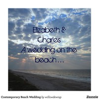 Contemporary Beach Wedding Custom Invite