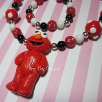 Elmo Inspired Necklace And Bracelet Set | Luulla