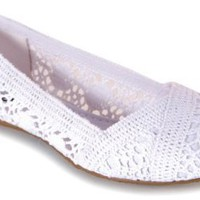 Amazon.com: Soda Faddy Crochet Ballet Flat: Shoes