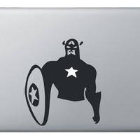 Captain America Sticker Decal for Apple Laptop by Bar8Designs