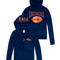 Denver Broncos Zip Hoodie - PINK - Victoria's Secret