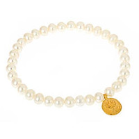 Satya Jewelry Pearl Lotus Bracelet - Max and Chloe