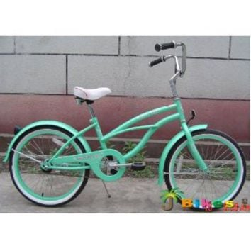 "J Bikes 20"" Beach Cruiser Bicycle Micargi Jetta Girls Kids Children Bike Mint Green"