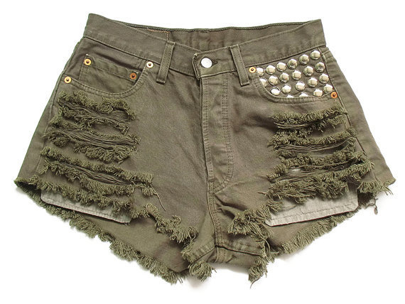 Levi high waisted denim shorts L by deathdiscolovesyou on Etsy