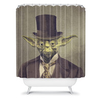 DENY Designs Home Accessories | Terry Fan Sir Yoda Shower Curtain