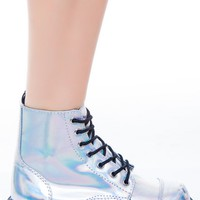 Iridescent 7 Eye Boot