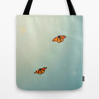 Monarch Sky Love Tote Bag by RichCaspian