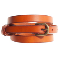 Latte Leather Belt
