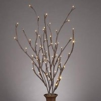 Amazon.com: Gerson 36858 39-Inch Electric Brown-Wrapped Lighted Faux Branch with 72 Clear Rice Lights, Set of 3: Home Improvement