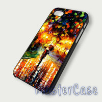 Walking in the rain - Hard Plastic,Covers Phone,Custom IPhone 5,IPhone 4,Samsung Galaxy S3,S4,Blackberry,HTC One -AA208-9