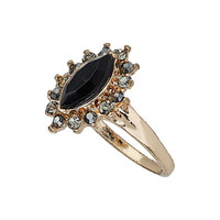 Black Facet Stone Midi Ring - View All - New In This Week - New In - Topshop USA