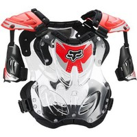 Fox Racing R3 Youth Boys Roost Deflector MotoX/Off-Road/Dirt Bike Motorcycle Body Armor - Red / Medium