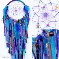 Cosmic Galaxy Native Style Woven Dream Catcher