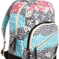 Roxy Juniors Fairness Backpack, Black Floral, One Size