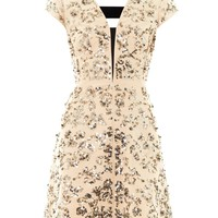Scroll-embellished day dress | Rebecca Taylor | MATCHESFASHION...