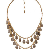 Fringed Teardrop Necklace | FOREVER21 - 1000044073