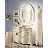 Amazon.com: Lea Jessica McClintock Romance 4 Drawer Double Dresser in Antique White: Furniture & Decor