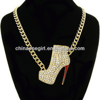 Short,Bold,Chain,Crystal,Theme,High Heel Necklace - Buy High Heel Necklace,Statement Necklace 2013,Wholesale Statement Necklace Product on Alibaba.com