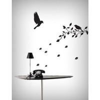 Amazon.com: Flying Birds & Tree Removable Vinyl Home Wall Art Sticker Decals: Home & Kitchen