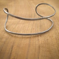 Melissa Joy Manning: Double bar cuff-oxidized sterling silver
