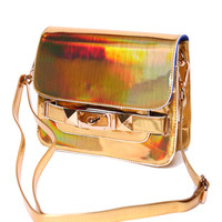 Lourdes Bag in Gold