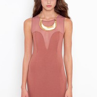 Mesh Plunge Dress in Clothes Dresses at Nasty Gal