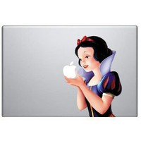 Full Color Snow White Macbook Decal