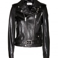 Leather Biker Jacket  - Saint Laurent ♦ mytheresa.com
