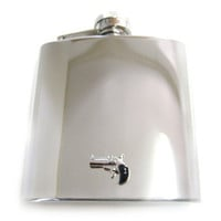 Hand Gun 6 oz. Stainless Steel Flask