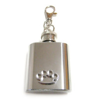 Brass Knuckle 1 oz. Stainless Steel Key Chain Flask