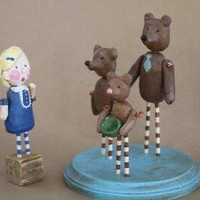 Goldilocks and the Three BearsFolk art Figurines by triesteprusso