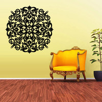 Wall Decal Vinyl  Mural Sticker Art Decor Bedroom Flowers Mandala Menhdi Curly (z1971)