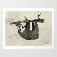Mr. Sloth Art Print by Greg Abbott