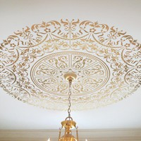 Decorative Stencil Georgian Ceiling by CuttingEdgeStencils on Etsy