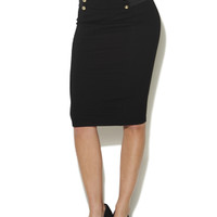 High Waist Military Pencil Skirt | Shop English Manor at Arden B