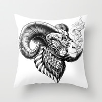 Bighorn Sheep Throw Pillow by BioWorkZ