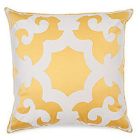 "Z Gallerie - Bukhara Pillow 24"" - Lemon & White"